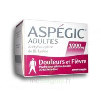 ASPEGIC ADULTES 1000 mg, poudre pour solution buvable en sachet-dose 20 à MONSWILLER
