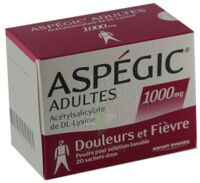 ASPEGIC ADULTES 1000 mg, poudre pour solution buvable en sachet-dose 15 à MONSWILLER