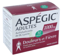 ASPEGIC ADULTES 1000 mg, poudre pour solution buvable en sachet-dose 30 à MONSWILLER