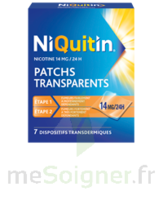 NIQUITIN 14 mg/24 heures, dispositif transdermique Sach/7 à MONSWILLER