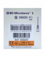 BD MICROLANCE 3, G25 5/8, 0,5 mm x 16 mm, orange  à MONSWILLER