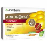 Arkoroyal Dynergie Ginseng Gelée Royale Propolis Solution Buvable 20 Ampoules/10ml à MONSWILLER
