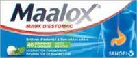 MAALOX HYDROXYDE D'ALUMINIUM/HYDROXYDE DE MAGNESIUM 400 mg/400 mg Cpr à croquer maux d'estomac Plq/40 à MONSWILLER