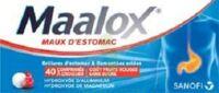 MAALOX MAUX D'ESTOMAC HYDROXYDE D'ALUMINIUM/HYDROXYDE DE MAGNESIUM 400 mg/400 mg SANS SUCRE FRUITS ROUGES, comprimé à croquer édulcoré à la saccharine sodique, au sorbitol et au maltitol à MONSWILLER