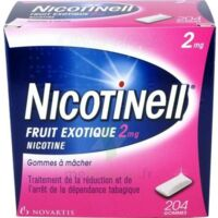 NICOTINELL FRUIT EXOTIQUE 2 mg, gomme à mâcher médicamenteuse Plq/204 à MONSWILLER