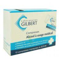 ALCOOL A USAGE MEDICAL GILBERT 2,5 ml Compr imprégnée 12Sach à MONSWILLER