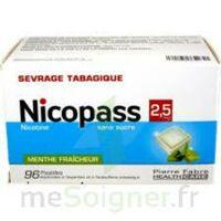 Nicopass 2,5 mg Pastille menthe fraîcheur sans sucre Plq/96 à MONSWILLER