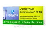 Cetirizine Biogaran Conseil 10 Mg, Comprimé Pelliculé Sécable à MONSWILLER