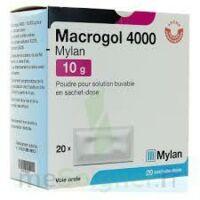 MACROGOL 4000 MYLAN 10 g, poudre pour solution buvable en sachet-dose à MONSWILLER