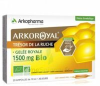 Arkoroyal Gelée royale bio 1500 mg Solution buvable 20 Ampoules/10ml à MONSWILLER