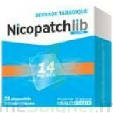 NICOPATCHLIB 14 mg/24 h Dispositifs transdermiques B/28 à MONSWILLER
